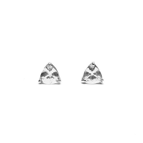 TRILLION STUD EARRINGS | SILVER & HERKIMER - AngelaMonacojewelry