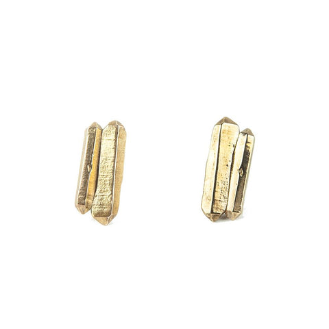 TWIN PEAKS CAST CRYSTAL STUDS | GOLD VERMEIL - AngelaMonacojewelry