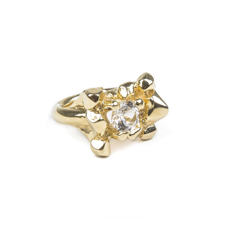 ELIXIR COCKTAIL RING | GOLD VERMEIL & HERKIMER - AngelaMonacojewelry