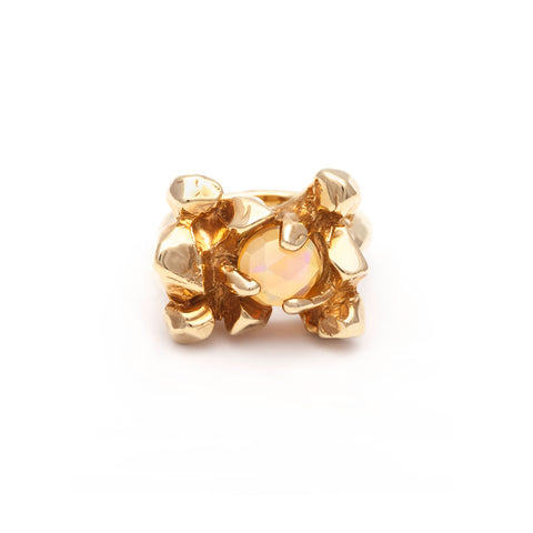 ELIXIR COCKTAIL RING | GOLD VERMEIL & OPAL - AngelaMonacojewelry