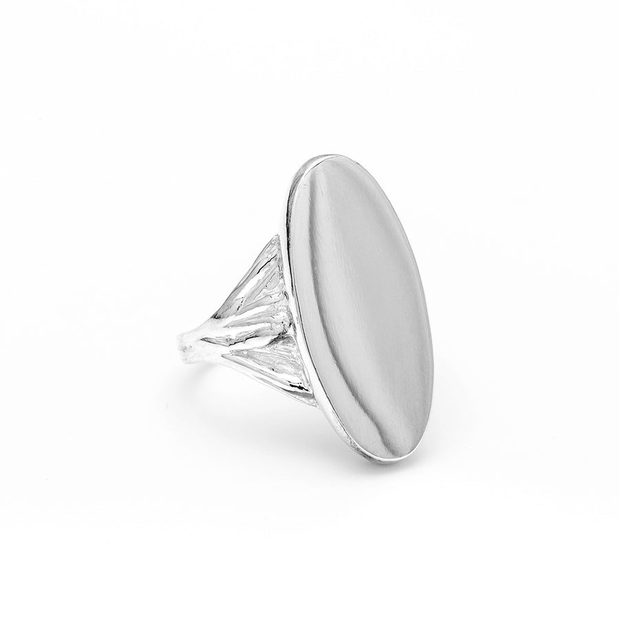 READY TO SHIP | ROOTS SIGNET RING | SILVER SIZE 8 - AngelaMonacojewelry