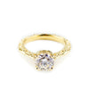 READY TO SHIP | MESA SOLITAIRE ENGAGEMENT RING | 14K GOLD & MOISSANITE