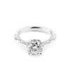 MESA SOLITAIRE ENGAGEMENT RING | 14K WHITE GOLD & LAB CREATED DIAMONDS