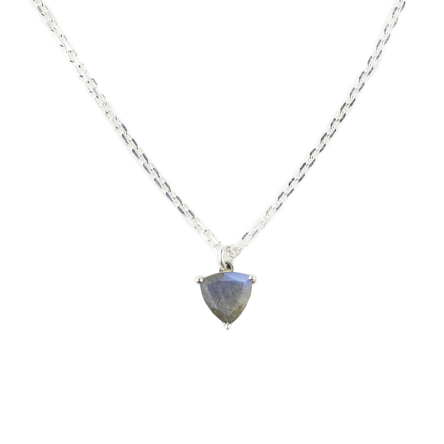 IN STOCK | EROS TRILLION CHARM NECKLACE | SILVER & LABRADORITE