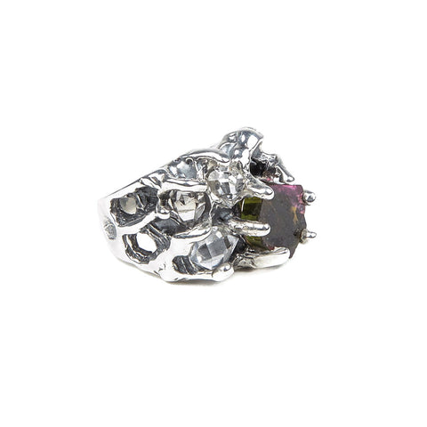LUNAR DREAMS RING | SILVER & TOURMALINE - AngelaMonacojewelry