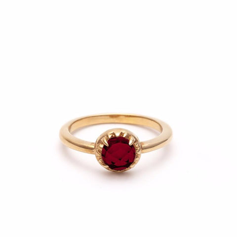 MATRIX HALO RING | GOLD VERMEIL & GARNET - AngelaMonacojewelry