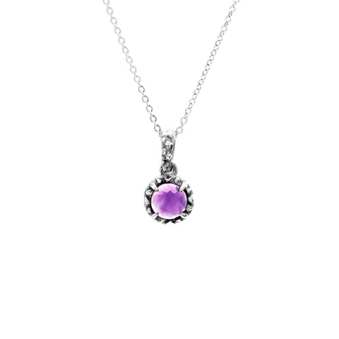 MATRIX HALO NECKLACE | SILVER & AMETHYST - AngelaMonacojewelry