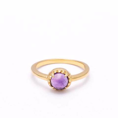 MATRIX HALO RING | GOLD VERMEIL & AMETHYST - AngelaMonacojewelry