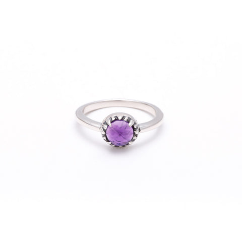 MATRIX HALO RING | SILVER & AMETHYST - AngelaMonacojewelry