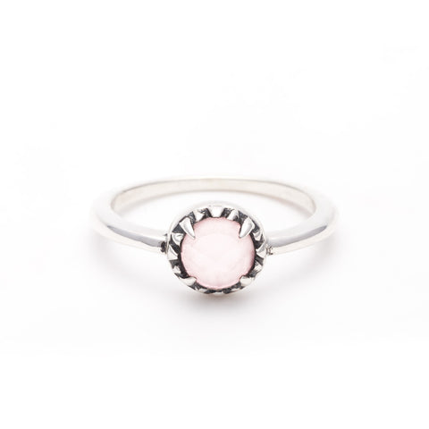 MATRIX HALO RING | SILVER & ROSE QUARTZ