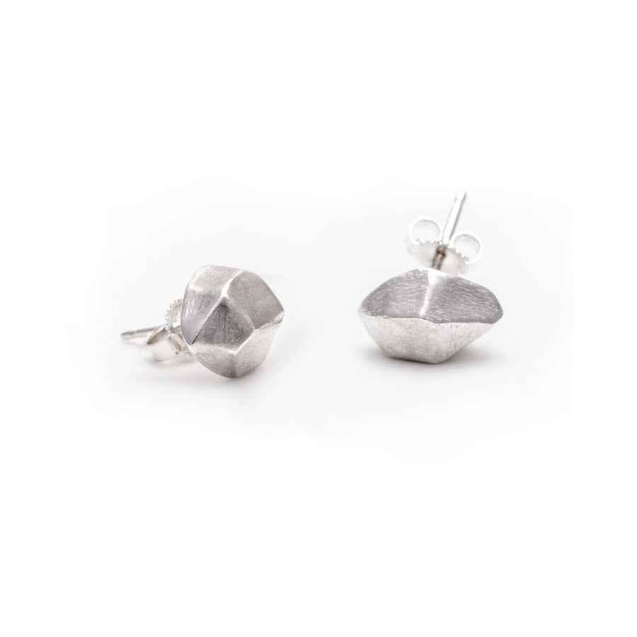 MEDIUM QUARTZ STUDS | SILVER - AngelaMonacojewelry