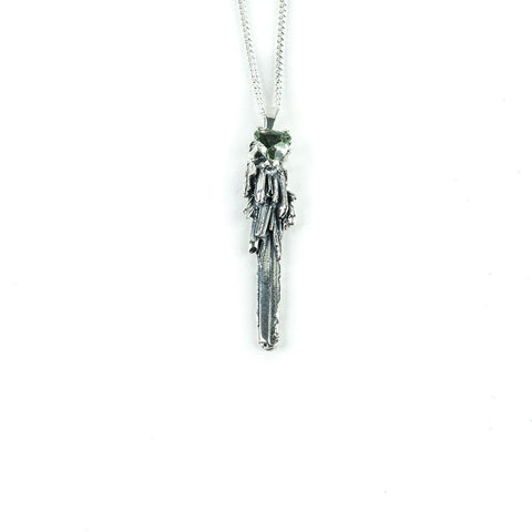 Necklace - KEY TO THE UNKNOWN | SILVER & GREEN AMETHYST