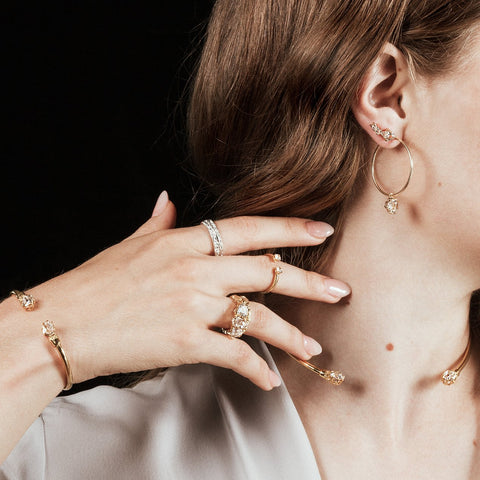 PASSAGE COLLAR | GOLD VERMEIL & HERKIMER - AngelaMonacojewelry