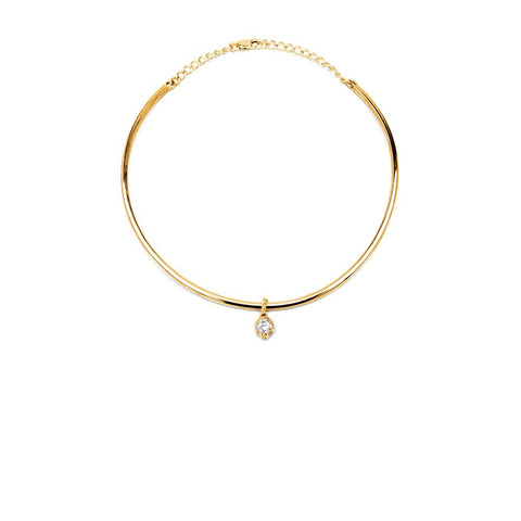 Necklace - RAW HERKIMER CHARM COLLAR | 14K GOLD