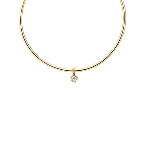 Necklace - RAW HERKIMER CHARM COLLAR | GOLD VERMEIL