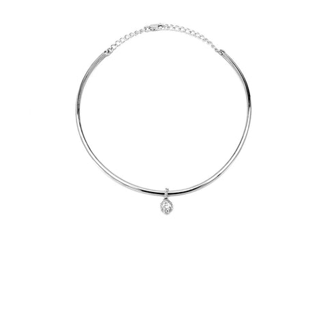Necklace - RAW HERKIMER CHARM COLLAR | STERLING SILVER