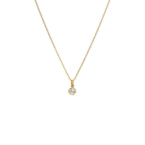 RAW CHARM NECKLACE | 14k GOLD & HERKIMER - AngelaMonacojewelry