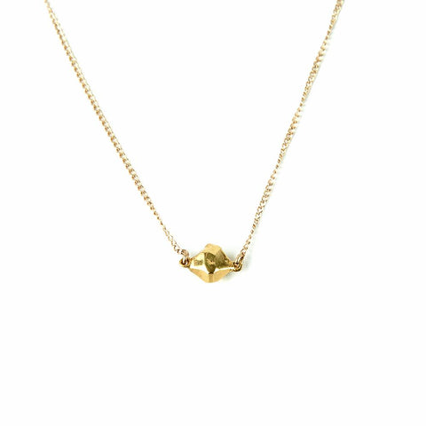 TINY BUT MIGHTY CAST CRYSTAL NECKLACE | GOLD VERMEIL - AngelaMonacojewelry