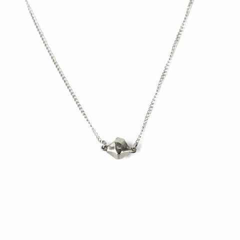 TINY BUT MIGHTY CAST CRYSTAL NECKLACE | SILVER - AngelaMonacojewelry