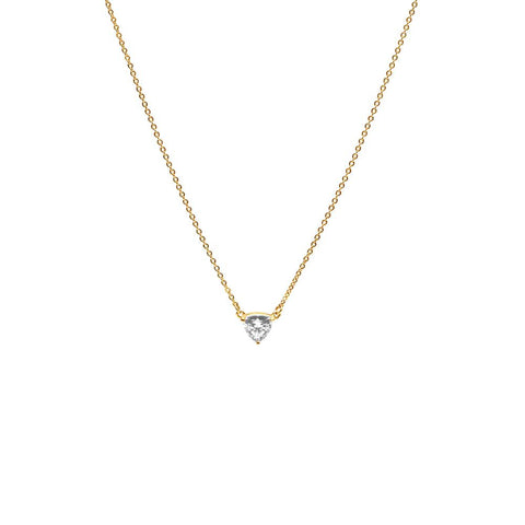 TRILLION PENDANT NECKLACE | 14k GOLD & HERKIMER - AngelaMonacojewelry