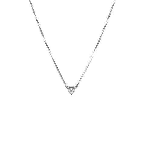 TRILLION PENDANT NECKLACE | SILVER & HERKIMER - AngelaMonacojewelry