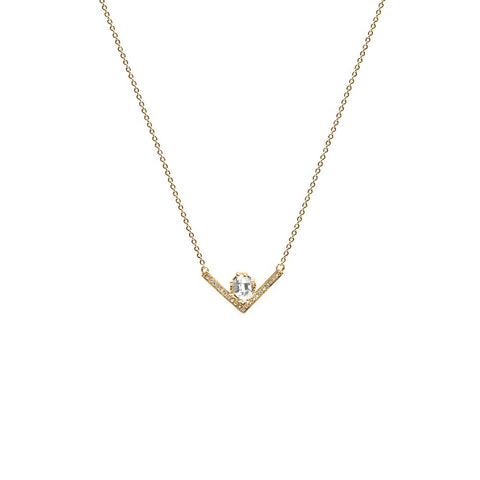 VENUSIAN NECKLACE | 14k GOLD WITH DIAMONDS - AngelaMonacojewelry