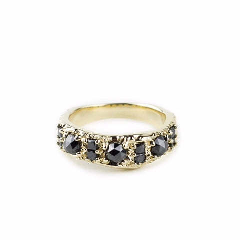 RING OF THE NILE | 14K GOLD & BLACK DIAMONDS