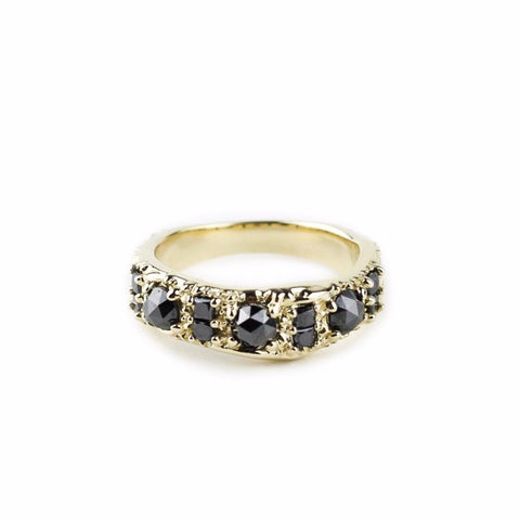 READY TO SHIP | RING OF THE NILE | 14K GOLD & BLACK DIAMONDS