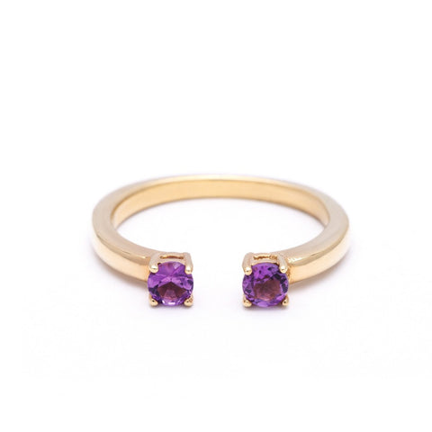 OPEN PASSAGE RING | GOLD VERMEIL & AMETHYST - AngelaMonacojewelry