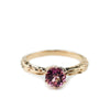 FACETED MATRIX SOLITAIRE | 14K ROSE GOLD & PINK TOURMALINE