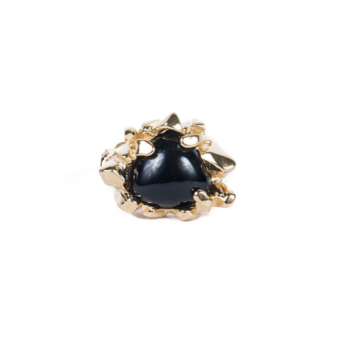 PRIMORDIAL MOUND RING | GOLD VERMEIL & ONYX - AngelaMonacojewelry