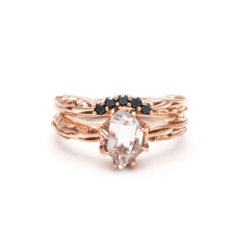 RAW SOLITAIRE UNION (No. 07) | ROSE GOLD - AngelaMonacojewelry