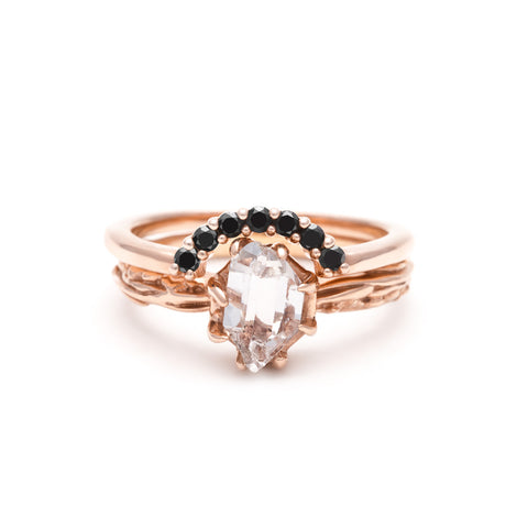 RAW SOLITAIRE UNION (No. 08) | ROSE GOLD - AngelaMonacojewelry