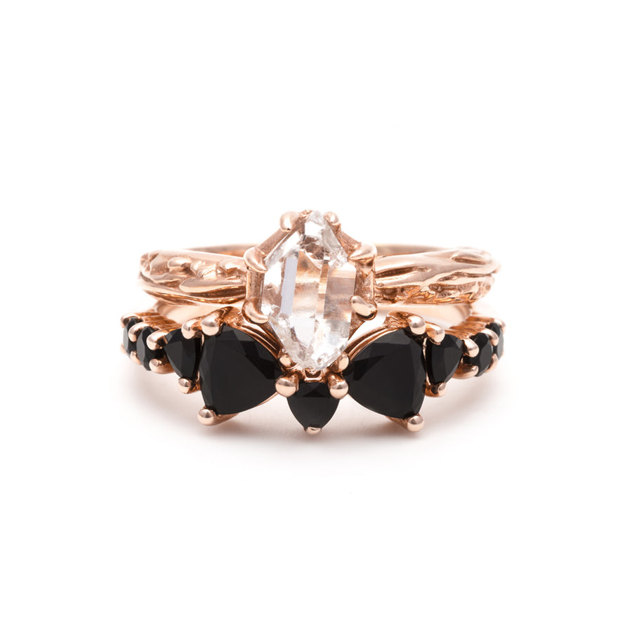 RAW SOLITAIRE UNION (No. 03) | ROSE GOLD - AngelaMonacojewelry