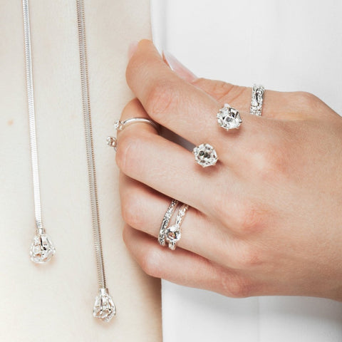 Rings - DELICATE MATRIX BAND | WHITE GOLD