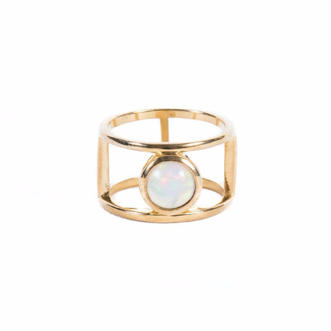Rings - DOUBLE BAND OPAL RING
