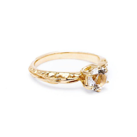 Rings - FACETED MATRIX SOLITAIRE RING | 14K GOLD