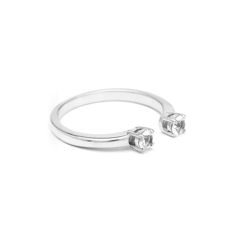 PASSAGE RING | WHITE GOLD & DIAMOND - AngelaMonacojewelry