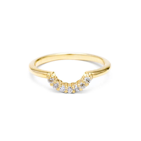 PAVE ARC CONTOUR BAND | 14k GOLD & DIAMOND - AngelaMonacojewelry