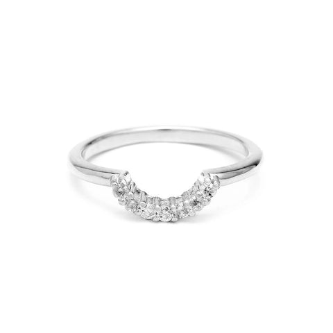 Rings - PAVE ARC CONTOUR BAND | WHITE GOLD