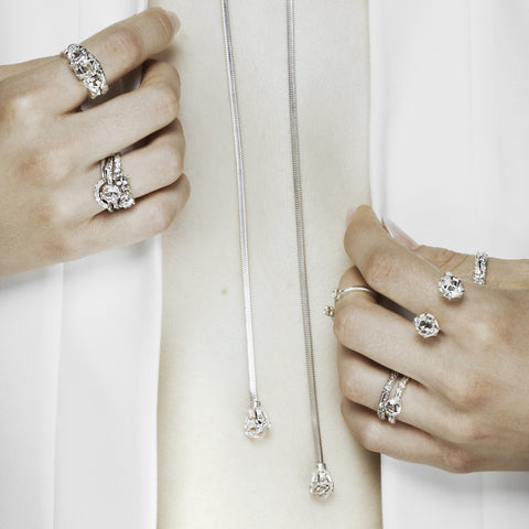 RAW SOLITAIRE UNION (No. 06) | SILVER - AngelaMonacojewelry