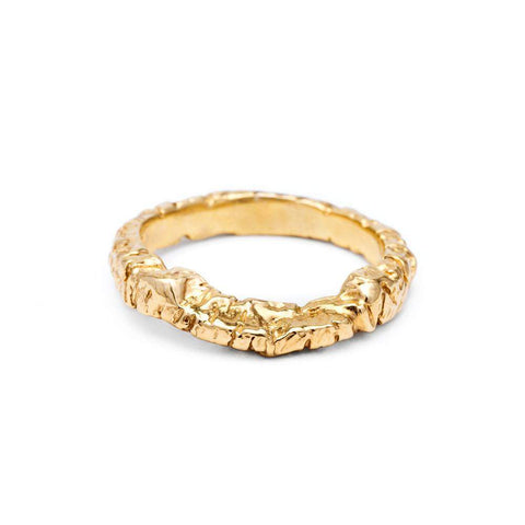 Rings - STONE AGE CONTOUR BAND | 14K GOLD