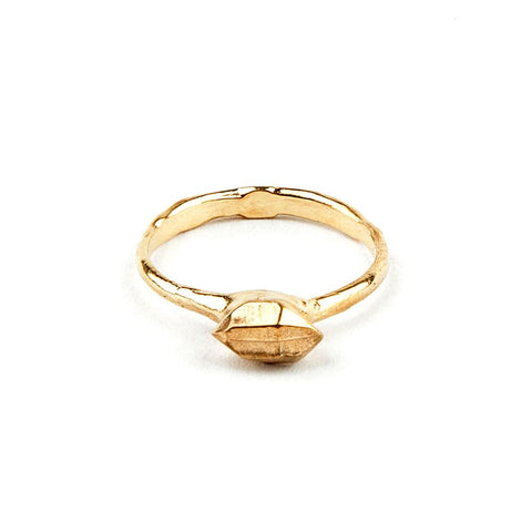 READY TO SHIP |  TINY BUT MIGHTY RING | GOLD VERMEIL - AngelaMonacojewelry