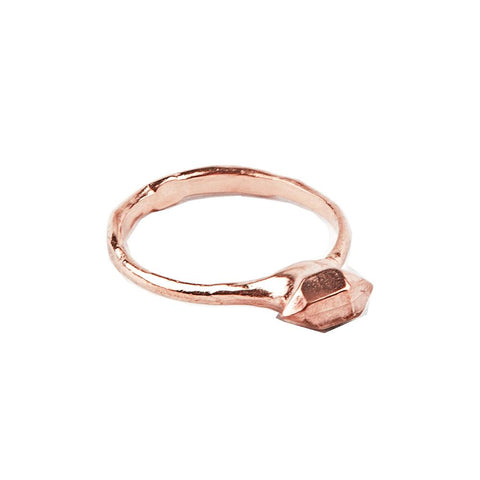 TINY BUT MIGHTY RING | ROSE GOLD VERMEIL - AngelaMonacojewelry