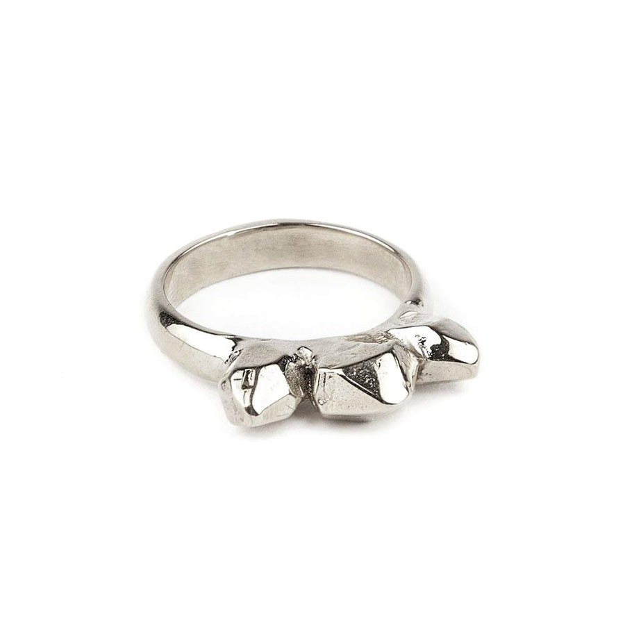 READY TO SHIP | TRIPLE SPIKE RING | SILVER - AngelaMonacojewelry