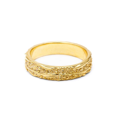Rings - WIDE MATRIX BAND | 14K GOLD