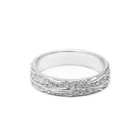 READY TO SHIP | WIDE MATRIX BAND | SILVER - AngelaMonacojewelry