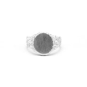 NEW | ROCKY SIGNET RING | SILVER - AngelaMonacojewelry