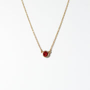 Ruby July birthstone Necklace