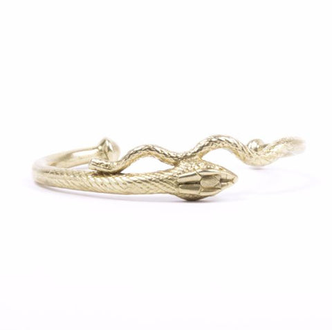 SERPENT CUFF | GOLD VERMEIL - AngelaMonacojewelry